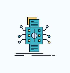 Analysis data datum processing reporting flat vector