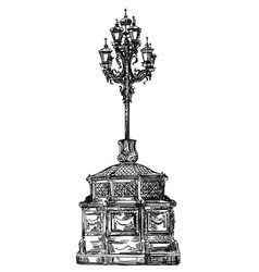 Ancient lantern vector
