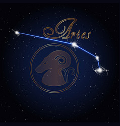 aries astrology constellation of the zodiac vector image