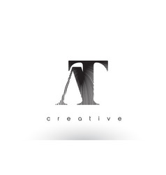 at logo design with multiple lines and black vector image