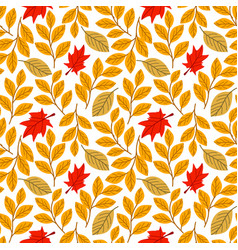 autumn fall cute seamless pattern all elements vector image