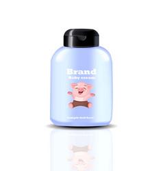 baby cream spray realistic cosmetics vector image