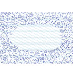 back to school seamless chalk drawn icon pattern vector image
