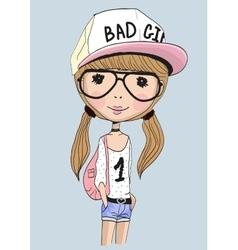 Bad Girl vector image vector image