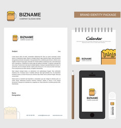 beer business letterhead calendar 2019 and mobile vector image