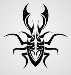 Beetle Tattoo Design vector image