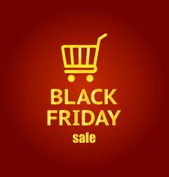 black friday banner black friday sale inscription vector image