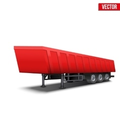 Blank parked red tipper semi trailer vector