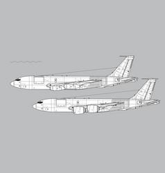 Boeing kc-135 stratotanker vector