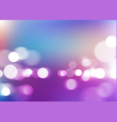 Bokeh lights with blurred colors background vector