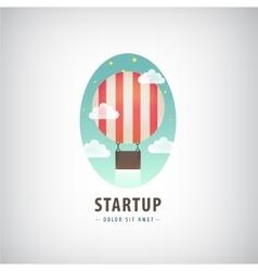 Business start up logo flying air ballon vector