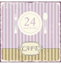Cafe shop vintage retro template vector image