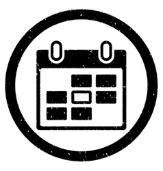 Calendar Day Rounded Grainy Icon vector