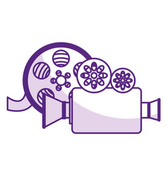 camera cinema isolated icon vector image
