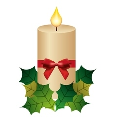Candle flame christmas isolated icon vector