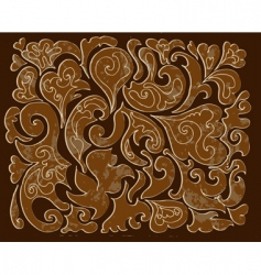 Carved wood pattern vector