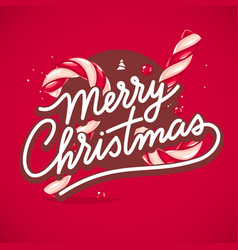 christmas lettering card vector image