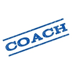 Coach Watermark Stamp vector