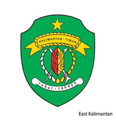 Coat arms east kalimantan is a indonesian vector