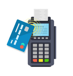 contactless payment purchase vector image