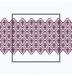 crest frame vector image