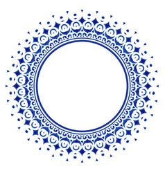 Decorative round frame mandala vector
