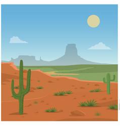 Desert scene vector