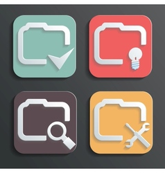 Design folder icons for Web and Mobile vector image
