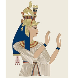 Egyptian queen taia vector