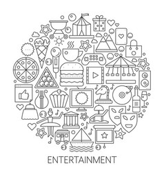 Entertainment infographic icons in circle - vector