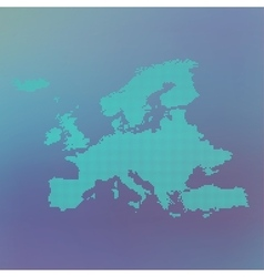 Europe dotted map on blue background vector image