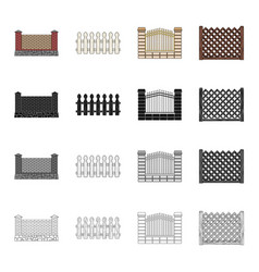 Fencing palisade paling and other web icon in vector