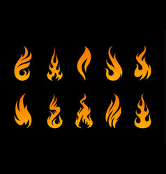 flame shapes vector image