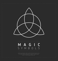 Flat style of magical symbol vector