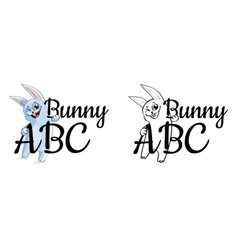 Funny cartoon bunny or rabbit vector