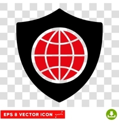 Global Shield Eps Icon vector image