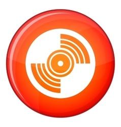 Gramophone vinyl lp record icon flat style vector