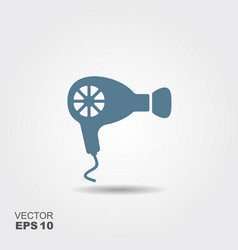 hairdryer icon in flat style isolated on grey vector image