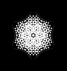 halftone isolated snowflake vector image