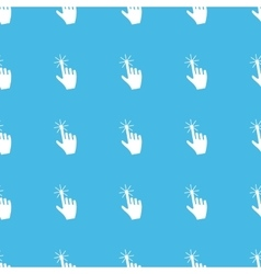 Hand cursor straight pattern vector