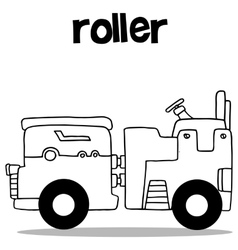 Hand draw of roller collection vector