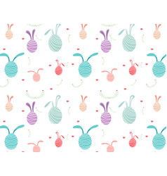 happy easter pattern background vector image