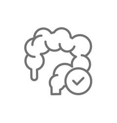 Healthy intestines colon line icon isolated vector