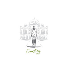 india country travel religion building concept vector image
