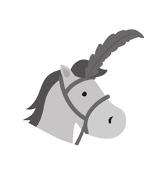 isolated horse cartoon vector image