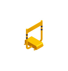 isometric parking barrier vector image
