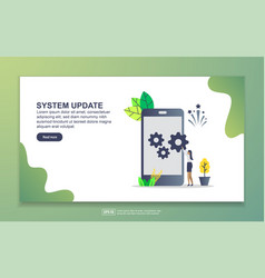 Landing page template system update modern vector