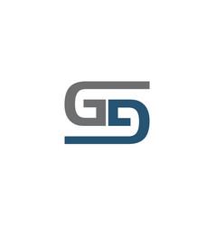 Letter g d s modern vector