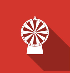 lucky wheel flat icon with long shadow vector image