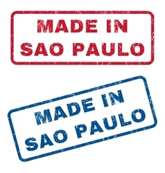 Made In Sao Paulo Rubber Stamps vector